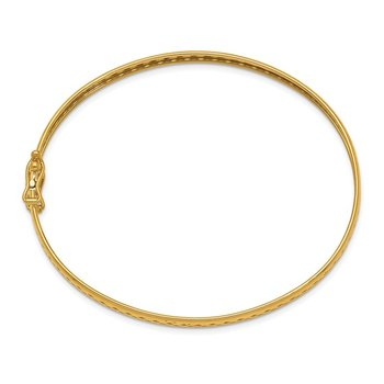 14k Polished Safety Clasp 4.75mm Bangle