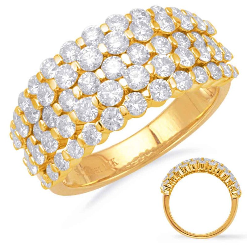 S. Kashi  & Sons Yellow Gold Diamond Fashion Ring