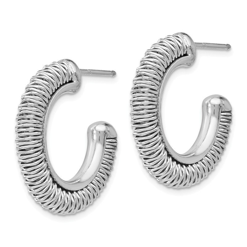JC Sipe Essentials Leslie's SS Rhodium-plated Fancy Earrings