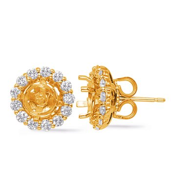 Yellow Gold Jackets Earring 1ct each