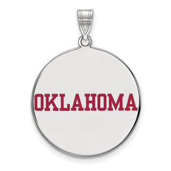Sterling Silver University of Oklahoma NCAA Pendant