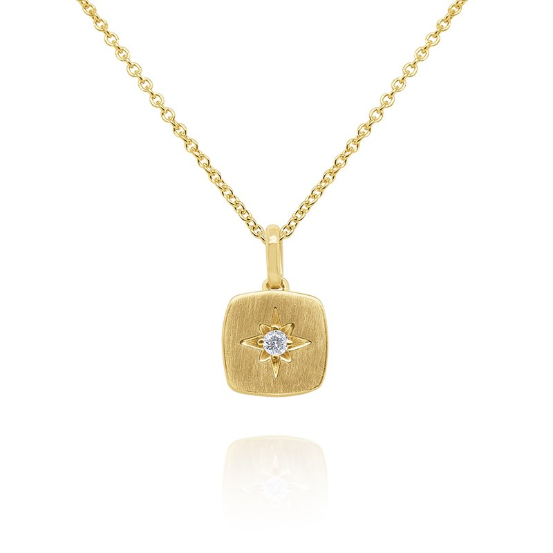 KC Designs 14k Gold and Diamond Starburst Necklace, 16""