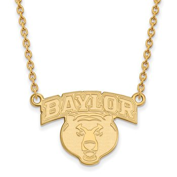 Gold-Plated Sterling Silver Baylor University NCAA Necklace