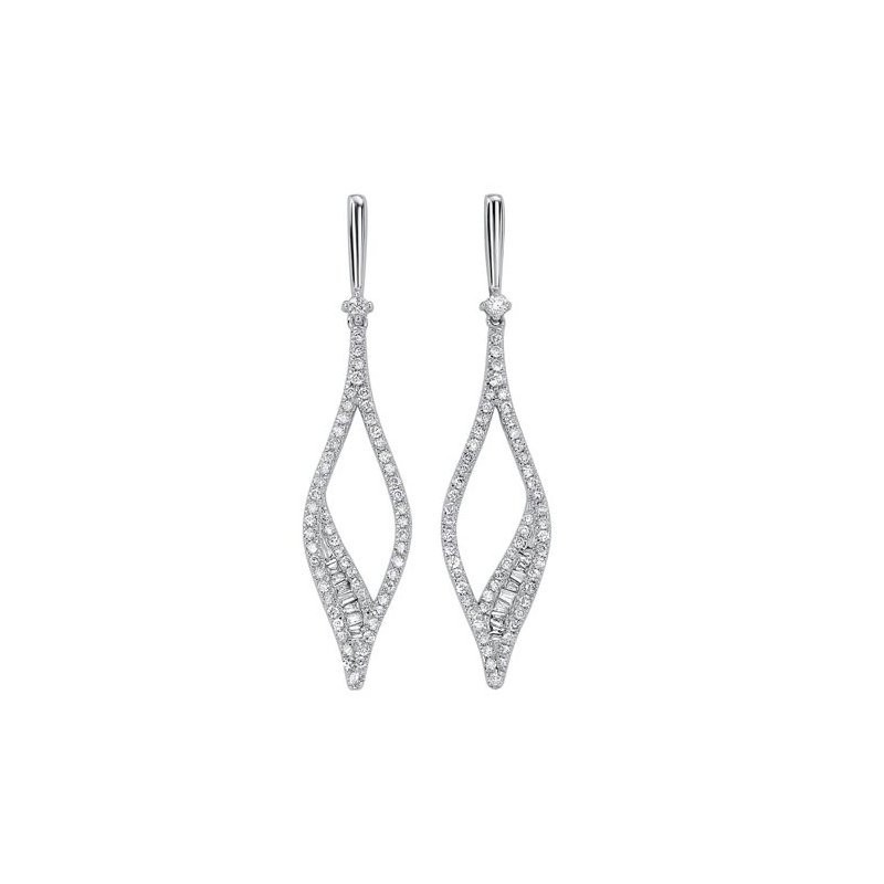 Gems One Diamond Teardrop Kite Dangle Earrings in 14k White Gold (¾ ctw)