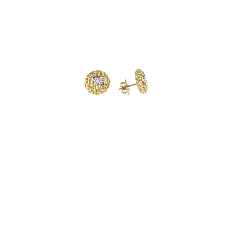 Roberto Coin 18Kt Gold Earrings With Diamonds