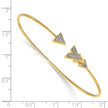 14k Diamond Arrow Flexible Bangle