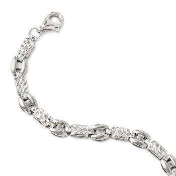 Leslie's 14K White Gold Diamond-cut Bracelet