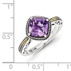 Shey Couture Sterling Silver w/14k Antiqued Amethyst Ring