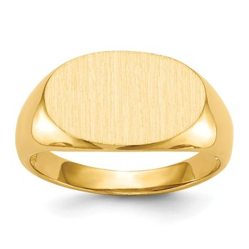 14k 11.0x17.0mm Open Back Men's Signet Ring