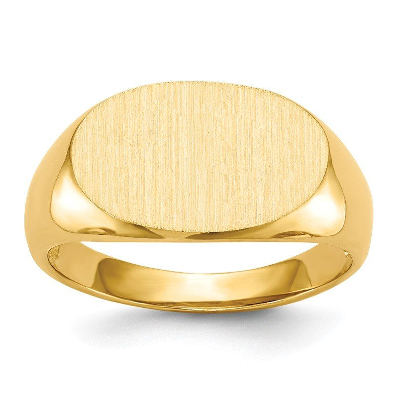 Quality Gold 14k 11.0x17.0mm Open Back Men's Signet Ring