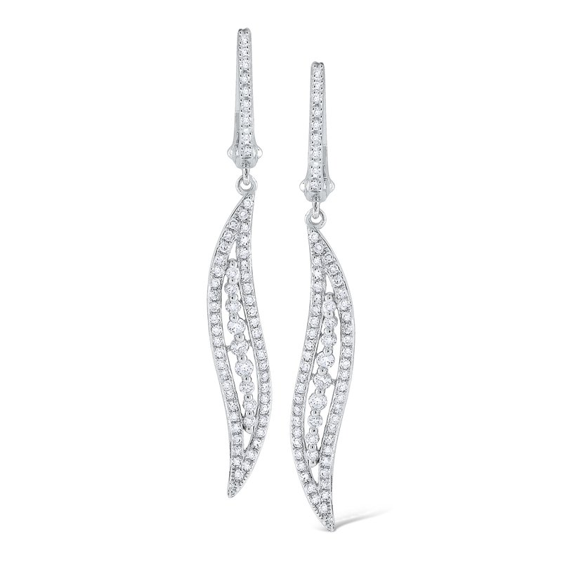 MAZZARESE Fashion 14K Gold and Diamond Wave Earrings