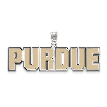 Sterling Silver Purdue University NCAA Pendant