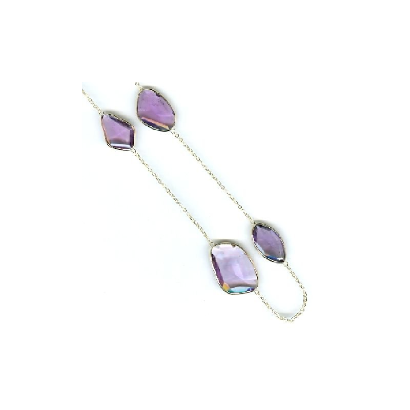 David Harvey Signature Amethyst Station Necklace