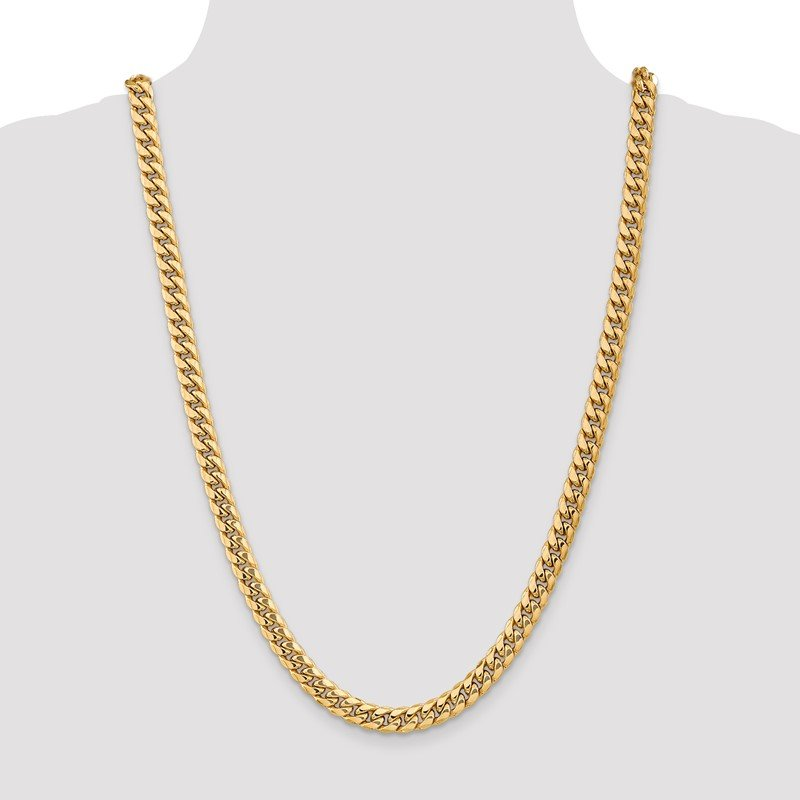 Quality Gold 14k 7.3mm Semi-Solid Miami Cuban Chain