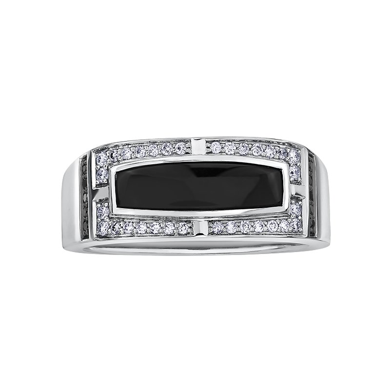 Diamond Days Onyx Gents Ring