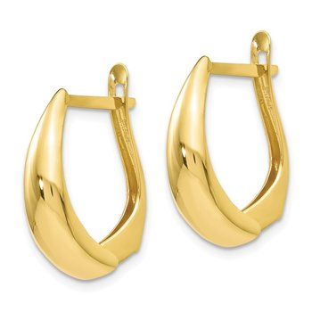 Leslie's 10K Polished Hoop Earrings