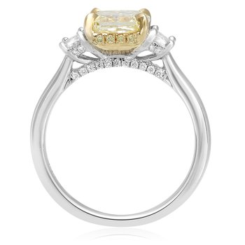 Three Stone Radiant Diamond Ring