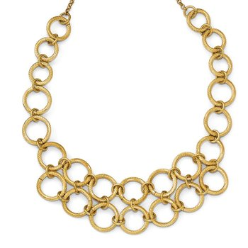 Leslie's Sterling Silver Flash-plated Gold-tone w/1.5in ext. Necklace