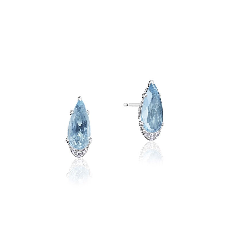 Tacori Fashion Pear-Shaped Gem Earrings with Sky Blue Topaz