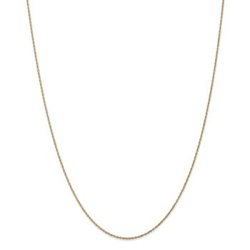 14k .8mm Light-Baby Rope Chain