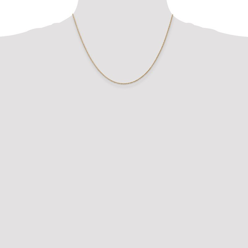 Quality Gold 14k .8mm Light-Baby Rope Chain