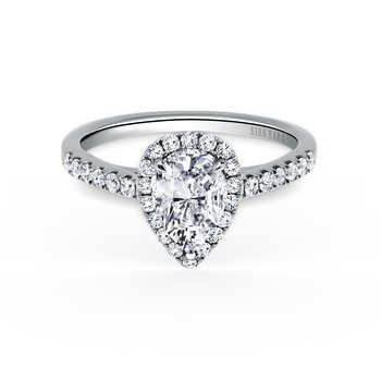 Halo Pear Diamond Engagement Ring