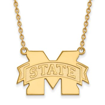 Gold-Plated Sterling Silver Mississippi State University NCAA Necklace