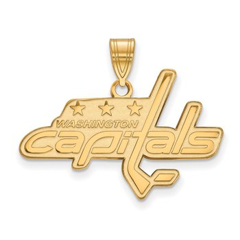 Gold-Plated Sterling Silver Washington Capitals NHL Pendant
