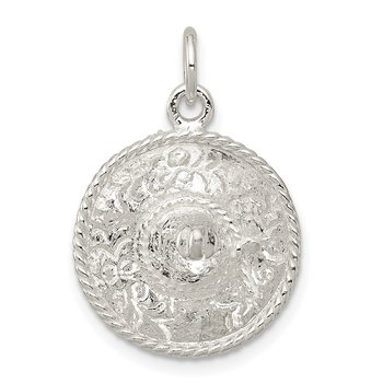 Sterling Silver Sombrero Charm
