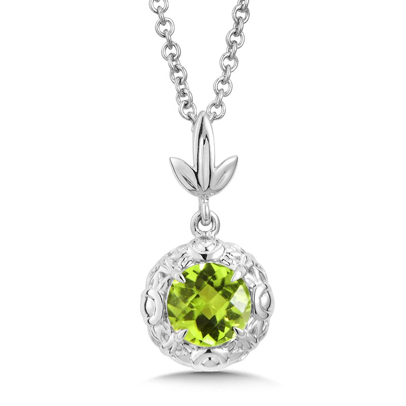 Colore Sg Sterling Silver Peridot Pendant - Naser Diamonds
