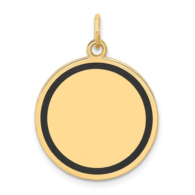 J.F. Kruse Signature Collection 14k w/Enamel .027 Gauge Circular Engravable Disc Charm