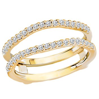 Diamond Wrap Ring with Guard