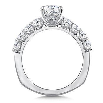 Diamond Engagement Ring Mounting in 14K White Gold (.63 ct. tw.)