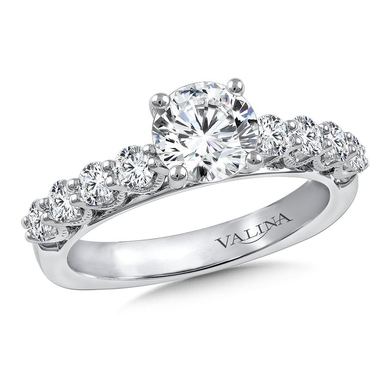 Valina Diamond Engagement Ring Mounting in 14K White Gold (.63 ct. tw.)