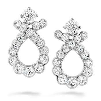 0.9 ctw. Aerial Regal Scroll Earrings