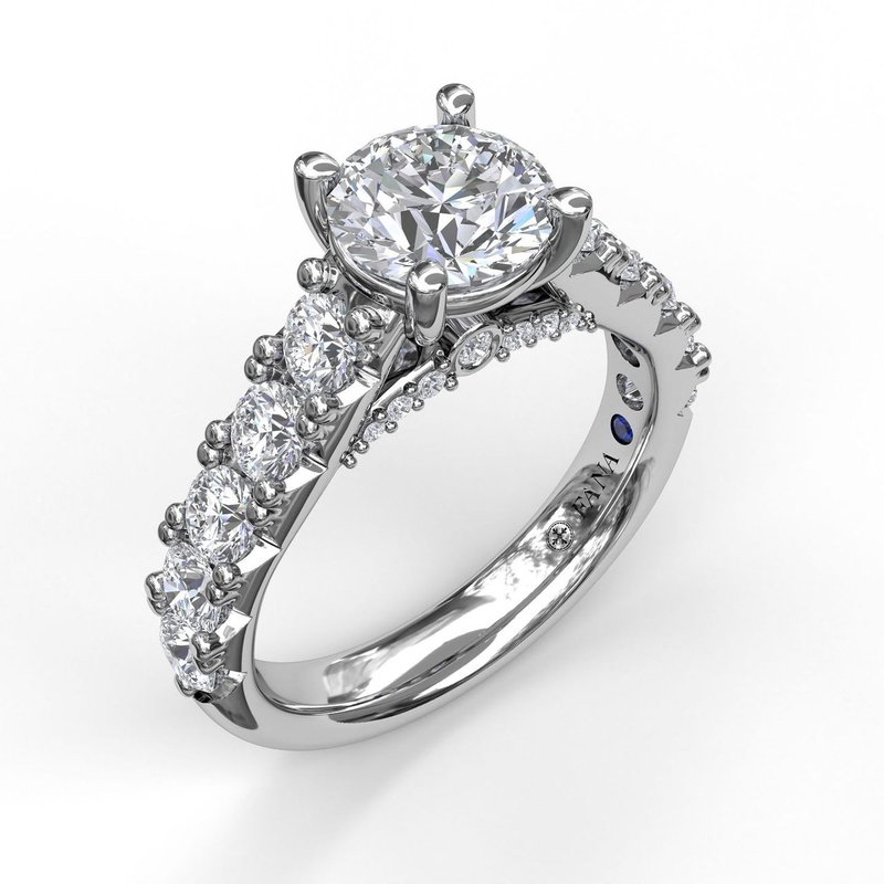 Fana Wide Band With Bold Pave Engagement Ring