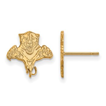 Gold Florida Panthers NHL Earrings