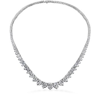 20 ctw. Temptation Three-Prong Necklace