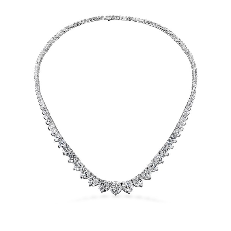 Hearts on Fire 20 ctw. Temptation Three-Prong Necklace