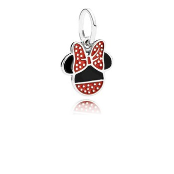 Disney, Minnie Icon Dangle Charm, Mixed Enamel