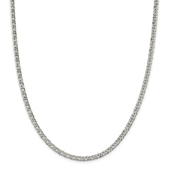 Sterling Silver 4.25mm 6 Side D/C Flat Double Curb Chain
