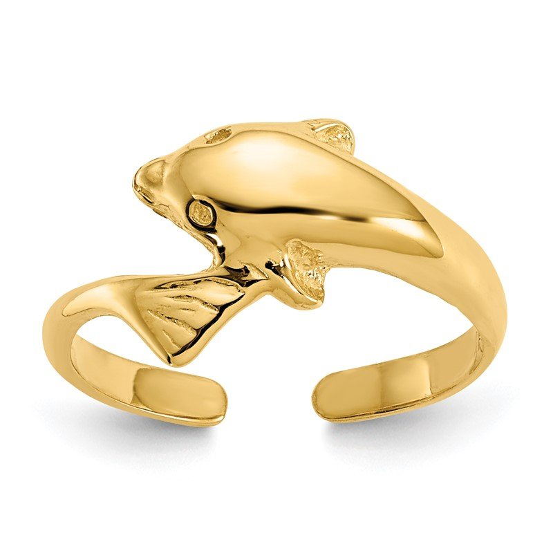 Quality Gold 14k Dolphin Toe Ring