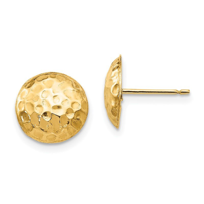 Quality Gold 14k Madi K Puffed Round Post Earrings