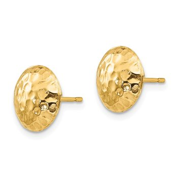 14k Madi K Puffed Round Post Earrings