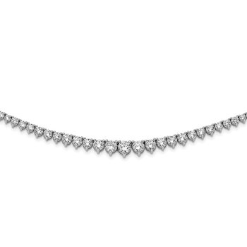 Sterling Silver Rhodium-plated 131 Stone CZ Necklace