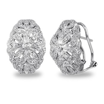 14K WHITE GOLD- .50CT DIAMONDS FASHION EARRINGS