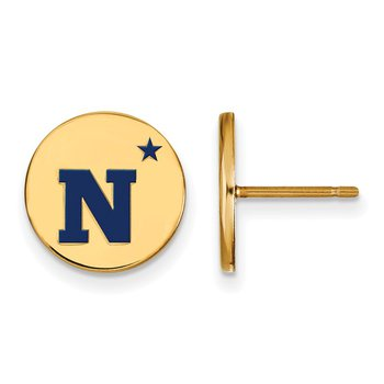 Gold-Plated Sterling Silver United States Naval Academy NCAA Earrings