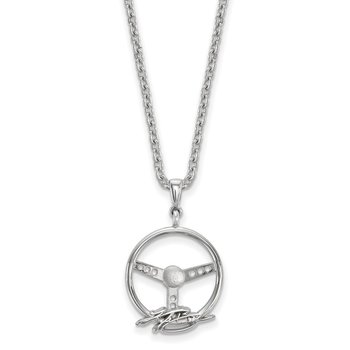 Sterling Silver 18 Kyle Busch NASCAR Necklace