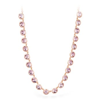 316L stainless steel and antique pink Swarovski® Elements