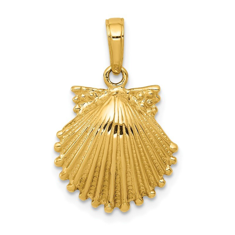 J.F. Kruse Signature Collection 14k Scallop Shell Pendant